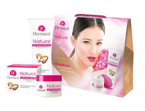 Dermacol Natural Almond denní pleťový krém dárková sada pro ženy - denní pleťový krém 50 ml + krém na ruce 100 ml
