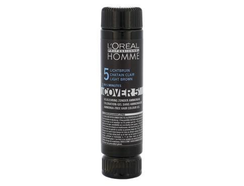 L´Oréal Professionnel Homme Cover 5´ 3x50 ml barva na vlasy Poškozená krabička 5 Light Brown pro muže