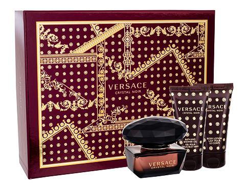 Versace Crystal Noir EDT dárková sada pro ženy - EDT 50 ml + tělové mléko 50 ml + sprchový gel 50 ml
