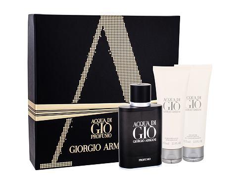Giorgio Armani Acqua di Gio Profumo EDP dárková sada pro muže - EDP 75 ml + sprchový gel Acqua di Gio 75 ml + balzám po holení Acqua di Gio 75 ml