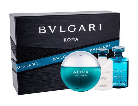 Bvlgari Aqva Pour Homme EDT dárková sada pro muže - EDT 50 ml + sprchový gel 40 ml + balzám po holení 40 ml