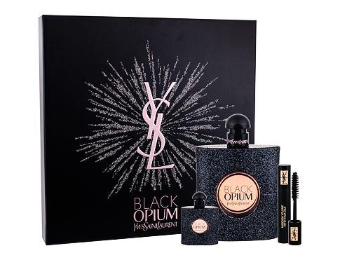 Yves Saint Laurent Black Opium EDP dárková sada pro ženy - EDP 90 ml + EDP 7,5 ml + řasenka Volume Effet Faux Cils No1 2 ml
