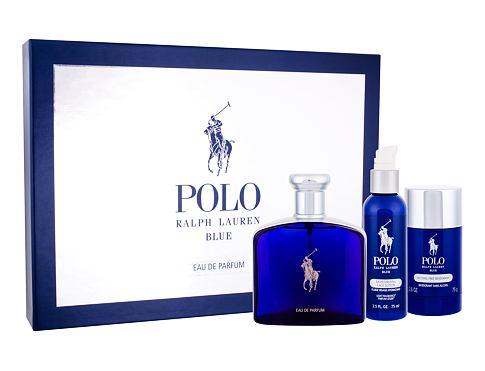 Ralph Lauren Polo Blue EDP dárková sada pro muže - EDP 125 ml + deostick 75 ml + hydratační pleťové mléko 75 ml