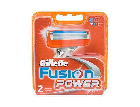 Gillette Fusion Power 2 ks náhradní břit pro muže