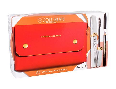 Collistar Shock řasenka dárková sada Black Shock pro ženy - řasenka 8 ml + tužka na oči 2 g Black + kabelka