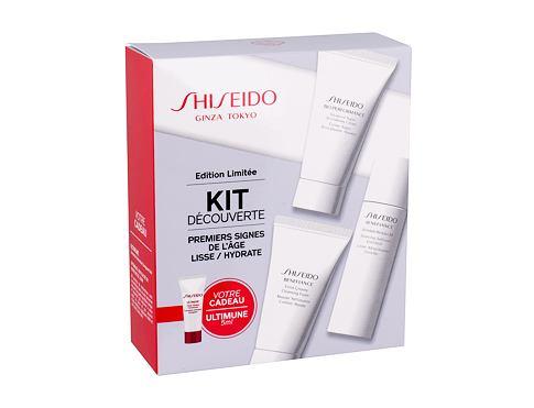 Shiseido Benefiance Extra Creamy Cleansing Foam čisticí pěna dárková sada pro ženy - čisticí pěna Extra Creamy Foam 30 ml + čisticí voda Wrinkle Resist 24 30 ml + denní pleťová péče Bio-Performance 30 ml + pleťové sérum Ultimune 5 ml