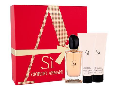 Giorgio Armani Si EDP dárková sada pro ženy - EDP 100 ml + tělové mléko 75 ml + sprchový gel 75 ml