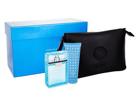 Versace Man Eau Fraiche EDT dárková sada pro muže - EDT 100 ml + sprchový gel 100 ml + kosmetick