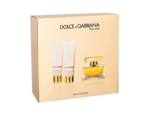 Dolce&Gabbana The One EDP dárková sada pro ženy - EDP 75 ml + tělové mléko 50 ml + sprchový gel 50 ml