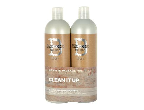 Tigi Bed Head Men Clean Up šampon dárková sada pro muže - šampon 750 ml + kondicionér 750 ml