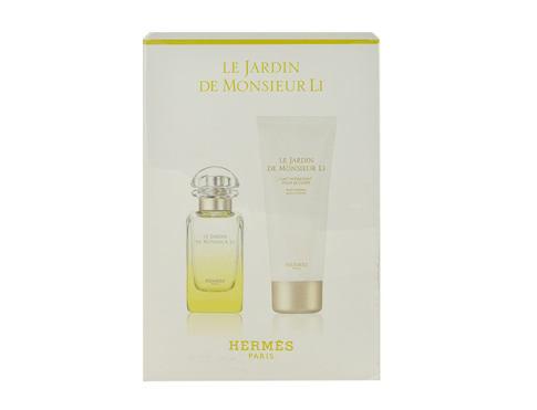 Hermes Le Jardin de Monsieur Li EDT dárková sada unisex - EDT 50 ml + tělové mléko 75 ml