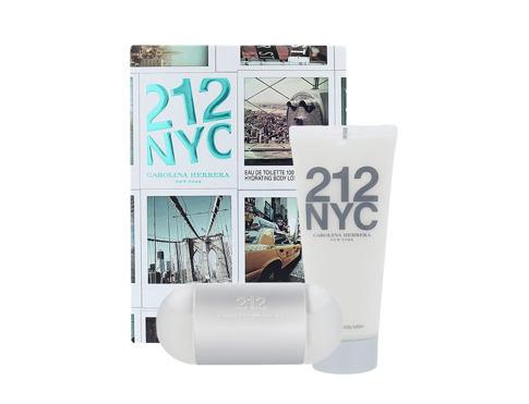 Carolina Herrera 212 NYC EDT dárková sada pro ženy - EDT 100 ml + tělové mléko 100 ml