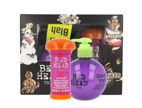 Tigi Bed Head Small Talk objem vlasů dárková sada pro ženy - krém pro objem vlasů 200 ml + pudrový balzám na vlasy Bed Head Joyride Texturizing Powder Balm 58 ml