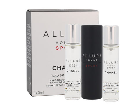 Chanel Allure Homme Sport 3x 20 ml 20 ml EDT Twist and Spray pro muže