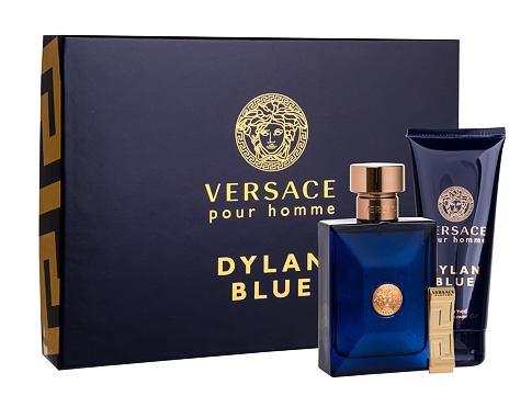 Versace Pour Homme Dylan Blue EDT dárková sada pro muže - EDT 100 ml + sprchový gel 100 ml + spona na bankovky