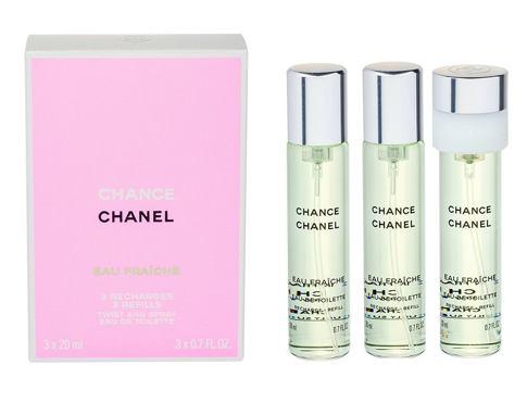 Chanel Chance Eau Fraiche 3x 20 ml 20 ml EDT Náplň pro ženy