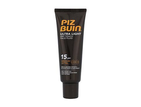 PIZ BUIN Ultra Light Dry Touch Face Fluid SPF15 50 ml opalovací přípravek na obličej pro ženy