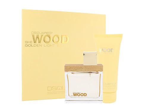 Dsquared2 She Wood Golden Light Wood EDP dárková sada pro ženy - EDP 50 ml + tělové mléko 100 ml