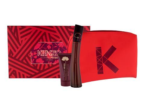 KENZO Flower By Kenzo L´Élixir EDP dárková sada pro ženy - EDP 50 ml + tělové mléko 50 ml + kosmetická taška