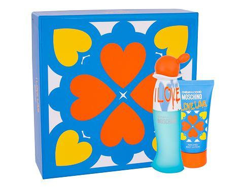 Moschino Cheap And Chic I Love Love EDT dárková sada pro ženy - EDT 30 ml + tělové mléko 50 ml