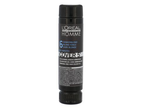 L´Oréal Professionnel Homme Cover 5´ 3x50 ml barva na vlasy Poškozená krabička 6 Dark Blond pro muže