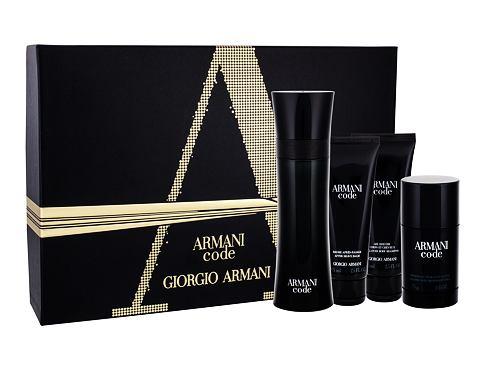 Giorgio Armani Armani Code Pour Homme EDT dárková sada pro muže - EDT 125 ml + balzám po holení 75 ml + sprchový gel 75 ml + deostick 75 ml