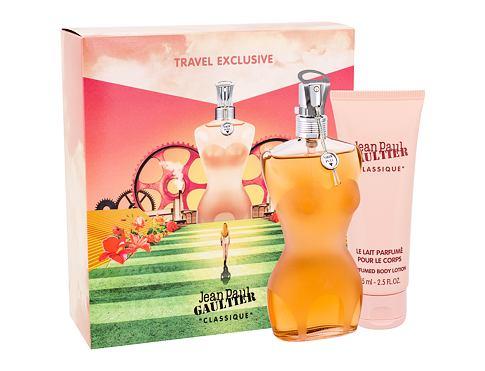 Jean Paul Gaultier Classique EDT dárková sada pro ženy - EDT 100 ml + tělové mléko 75 ml