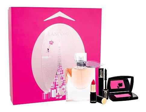 Lancome La Vie Est Belle EDP dárková sada pro ženy - EDP 50 ml + rtěnka L´Absolu Rouge Matte 378 Rose 1,6 g + řasenka Hypnose Noir Hypnotic 2 ml + tvářenka Subtil 021 Rose Paradis 2,5 g