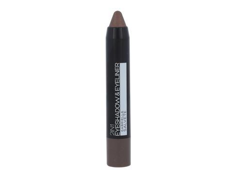 Gabriella Salvete Eyeshadow & Eyeliner 2in1 3,5 g oční stín 02 Metallic Brown pro ženy