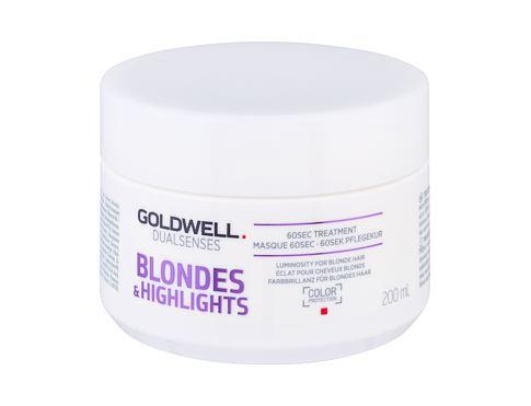 Goldwell Dualsenses Blondes Highlights 60 Sec Treatment 200 ml maska na vlasy pro ženy
