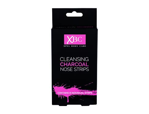 Pleťová maska Xpel Body Care Cleansing Charcoal Nose Strips 6 ks