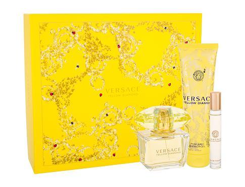 Versace Yellow Diamond EDT dárková sada pro ženy - EDT 90 ml + sprchový gel 150 ml + EDT 10 ml