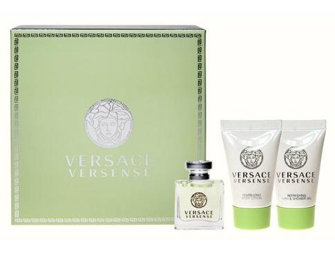 Versace Versense EDT dárková sada pro ženy - EDT 5 ml + sprchový gel 25 ml + tělové mléko 25 ml