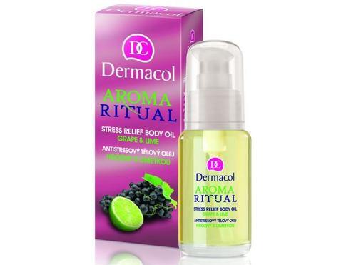 Dermacol Aroma Ritual Stress Relief Body Oil Grape & Lime 50 ml masážní olej pro ženy