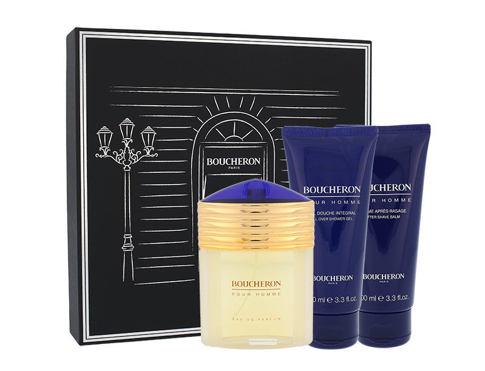 Boucheron Pour Homme EDP dárková sada pro muže - EDP 100 ml + balzám po holení 100 ml + sprchový gel 100 ml