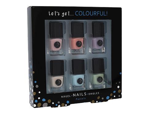 2K Let´s Get Colourful! Pastels lak na nehty dárková sada pro ženy - lak na nehty 6x 5 ml