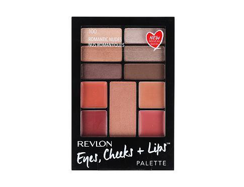 Revlon Eyes, Cheeks + Lips dekorativní kazeta dárková sada 100 Romantic Nudes pro ženy - Complete Make-up Palette