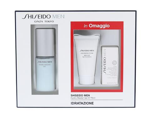 Shiseido MEN Hydro Master Gel pleťový gel dárková sada pro muže - pleťový gel MEN Hydro Master Gel 75 ml + čisticí pěna MEN Cleansing Foam 30 ml + oční krém MEN Total Revitalizer Eye 3 ml