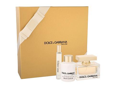Dolce&Gabbana The One EDP dárková sada pro ženy - EDP 75 ml + tělové mléko 100 ml + EDT 7,4 ml