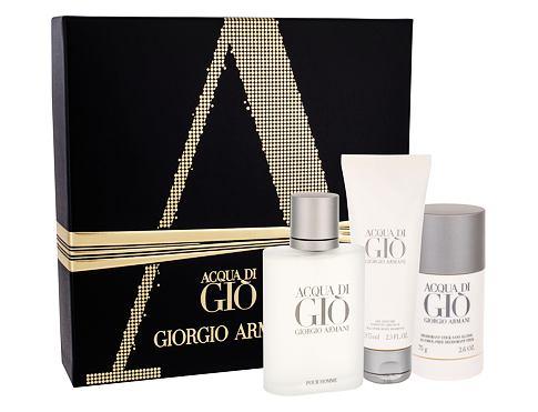 Giorgio Armani Acqua di Gio Pour Homme EDT dárková sada pro muže - EDT 100 ml + deostick 75 ml + sprchový gel 75 ml