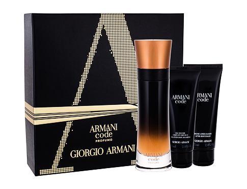 Giorgio Armani Code Profumo EDP dárková sada pro muže - EDP 100 ml + sprchový gel 75 ml + balzám po holení 75 ml