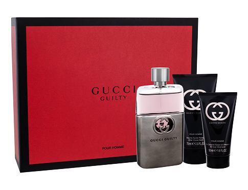 Gucci Guilty Pour Homme EDT dárková sada pro muže - EDT 90 ml + balzám po holení 75 ml + sprchový gel 50 ml