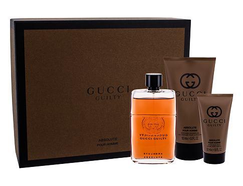 Gucci Guilty Absolute Pour Homme EDP dárková sada pro muže - EDP 90 ml + balzám po holení 50 ml + sprchový gel 150 ml