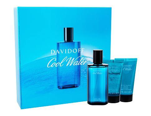 Davidoff Cool Water EDT dárková sada pro muže - EDT 75 ml + sprchový gel 50 ml + balzám po holení 50 ml