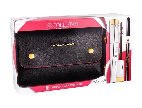 Collistar Art Design řasenka dárková sada Black pro ženy - řasenka 12 ml + tužka na oči 2 g Black + kabelka
