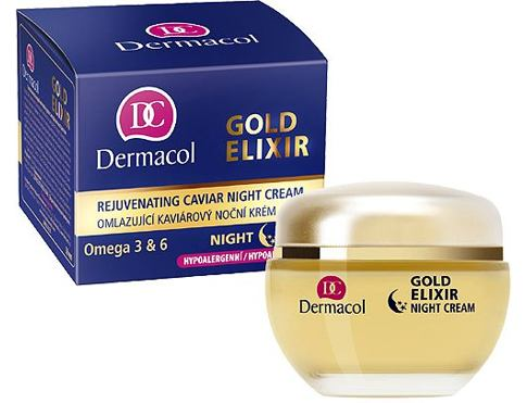 Dermacol Gold Elixir 50 ml noční pleťový krém pro ženy