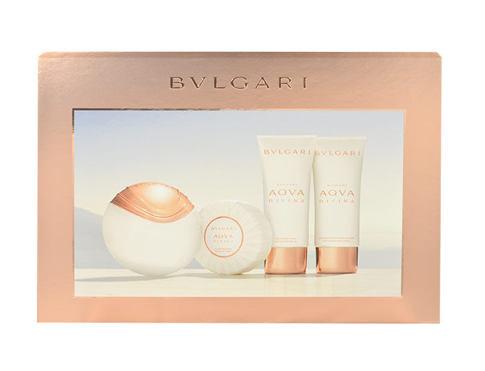 Bvlgari Aqva Divina EDT dárková sada pro ženy - EDT 65 ml + tělové mléko 100 ml + sprchový gel 100 ml + mýdlo 150 g