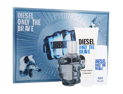 Diesel Only The Brave EDT dárková sada pro muže - EDT 75 ml + sprchový gel 100 ml + sprchový gel 50 ml