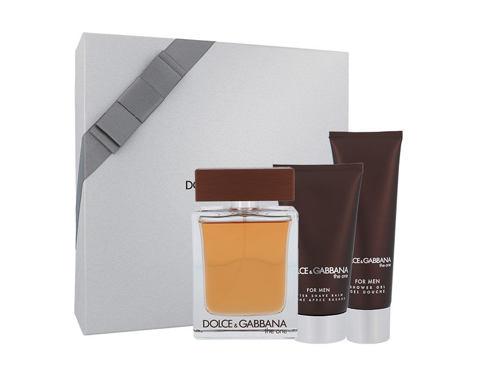 Dolce&Gabbana The One For Men EDT dárková sada pro muže - EDT 100 ml + balzám po holení 75 ml + sprchový gel 50 ml