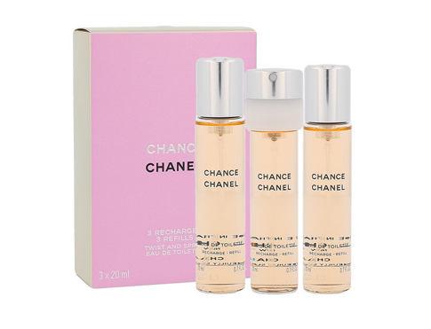 Chanel Chance 3x 20 ml 20 ml EDT Náplň pro ženy